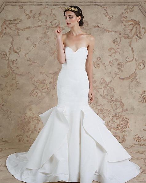 Атласное свадебное платье - русалочка - Sareh Nouri