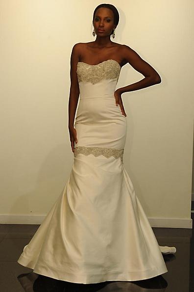 Атласное свадебное платье - русалочка - Victor Harper