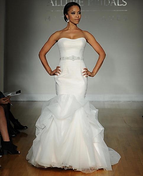 Атласное свадебное платье - рыбий хвост - Allure