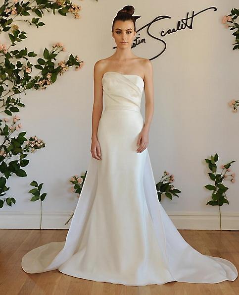 Атласное свадебное платье - рыбий хвост - Austin Scarlett