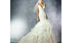 Атласное свадебное платье - русалочка - Pronovias