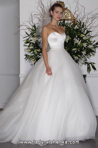 Свадебное платье из атласа 2016 - Romona Keveza