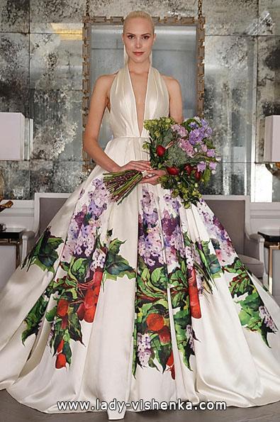 Свадебное платье из атласа 2016 фото - Romona Keveza
