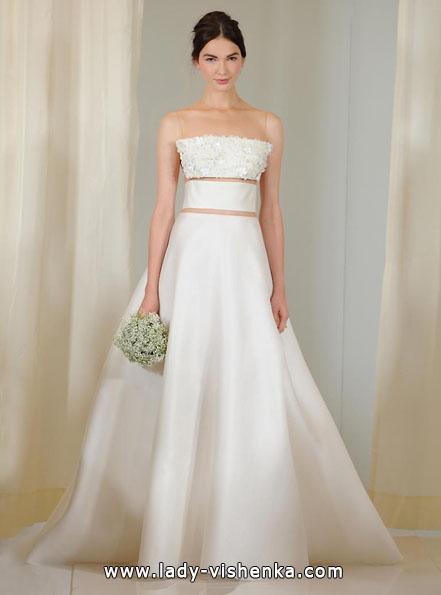 Атласные свадебные платья 2016 - Angel Sanchez