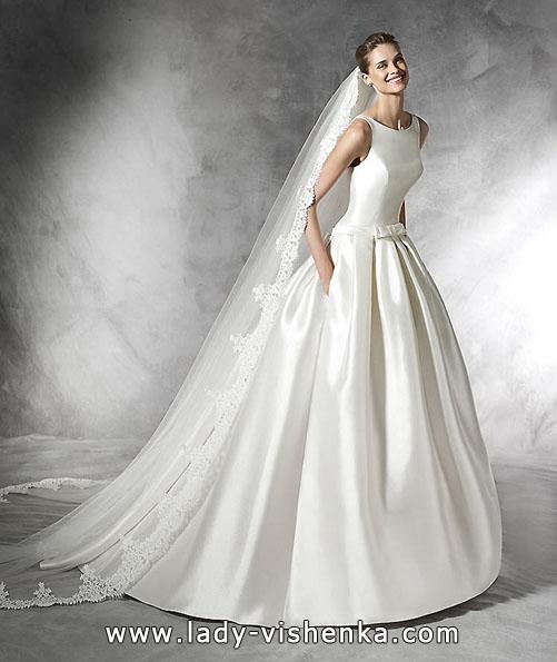 Атласные свадебные платья 2016 фото - Pronovias