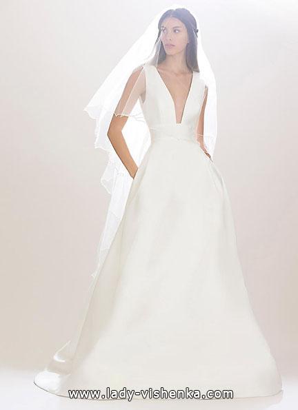 Свадебное платье из атласа 2016 - Carolina Herrera