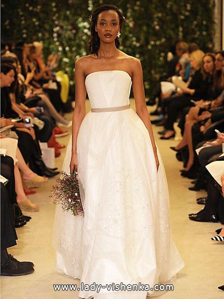 Атласные свадебные платья 2016 фото - Carolina Herrera