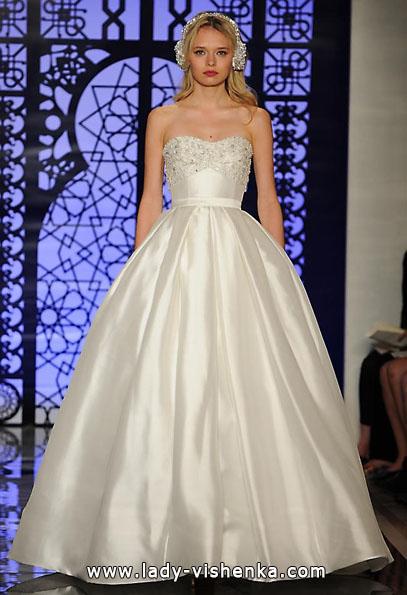 Атласные свадебные платья 2016 - Reem Acra