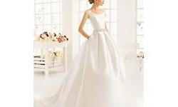 Атласные свадебные платья весна 2016 фото - Aire Barcelona