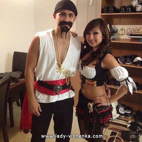 Пират и пиратка - костюм для пары на Хэллоуин