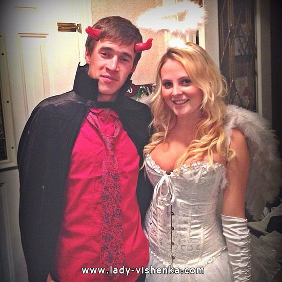 Секси дьявол и ангел на Хэллоуин