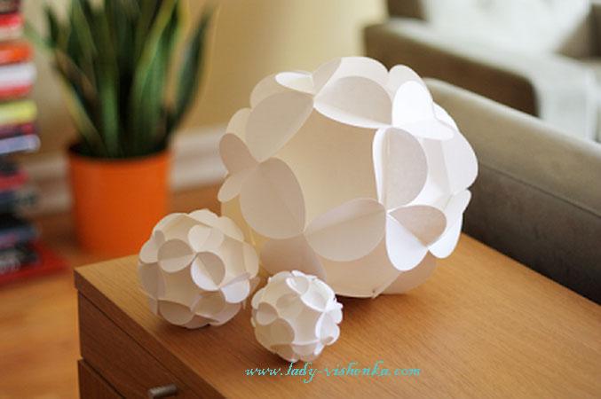 Игрушка из бумаги – шар.