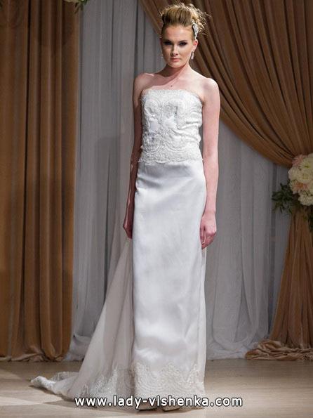 Свадебное платье прямого силуэта 2016 - Jean-Ralph Thurin