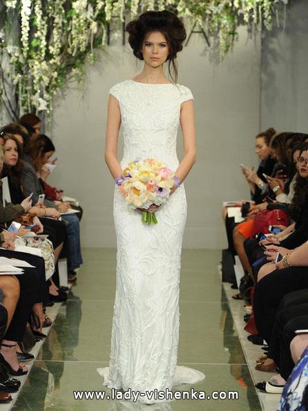 Прямое закрытое свадебное платье 2016 - Theia