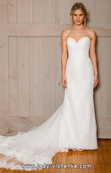 Прямое свадебное платье фото 2016 - David's Bridal