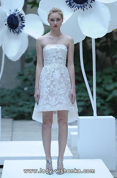 Свадебное платье короткое кружевное 2016 - Lela Rose