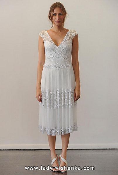 Свадебное платье короткое кружевное 2016 - Temperley