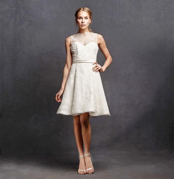 Свадебное платье короткое кружевное 2016 - Isabelle Armstrong