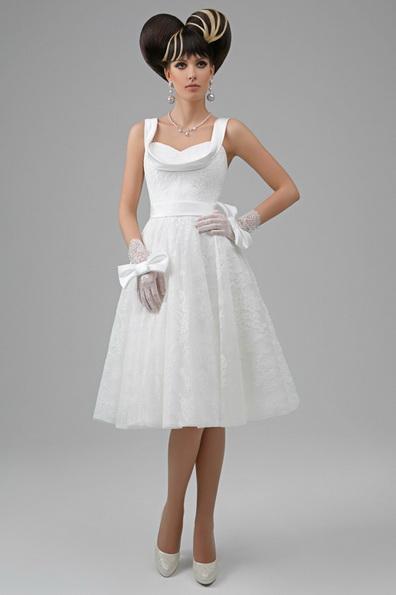 Пышное свадебное платье длиной до колена 2016 - Tatiana Kaplun