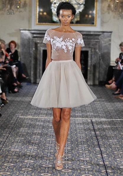 Короткие пышные свадебные платья 2016 - Mira Zwillinger