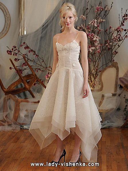 Свадебное платье длиной 3/4 - Elizabeth Fillmore