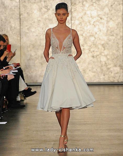 Платье спереди короткое сзади длинное кружевное 181