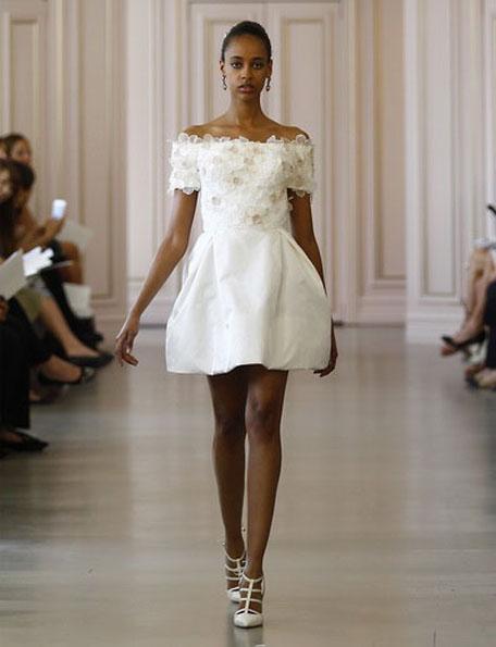 Короткие свадебные платья с рукавами 2016 - Oscar de la Renta