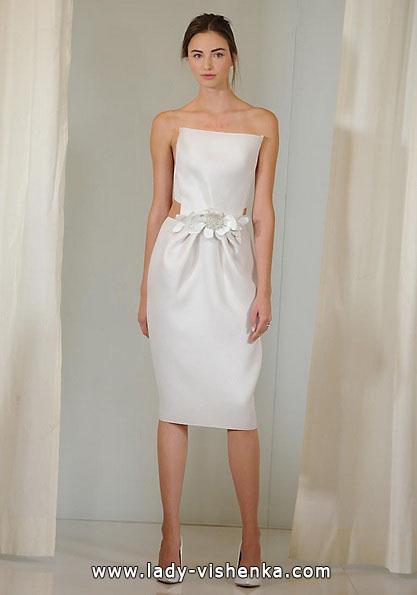 Короткое белое свадебное платье 2016 - Angel Sanchez