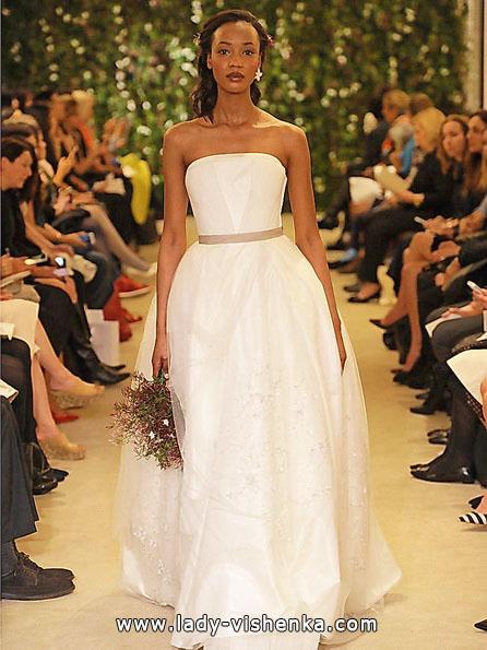 Простое свадебное платье фото 2016 - Carolina Herrera