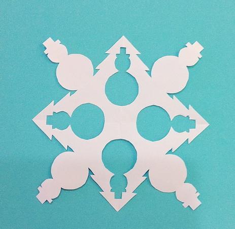Снежинки из бумаги своими руками схема распечатать