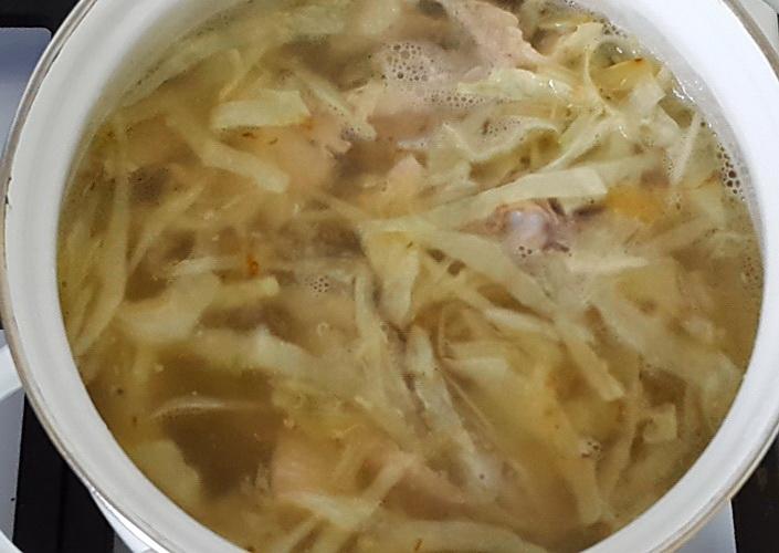 Суп с курицей и капустой