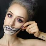 Страшный макияж на Хэллоуин. Фото