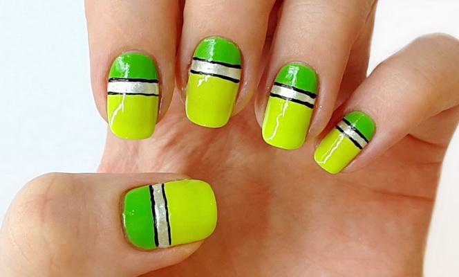 Дизайн ногтей - линии