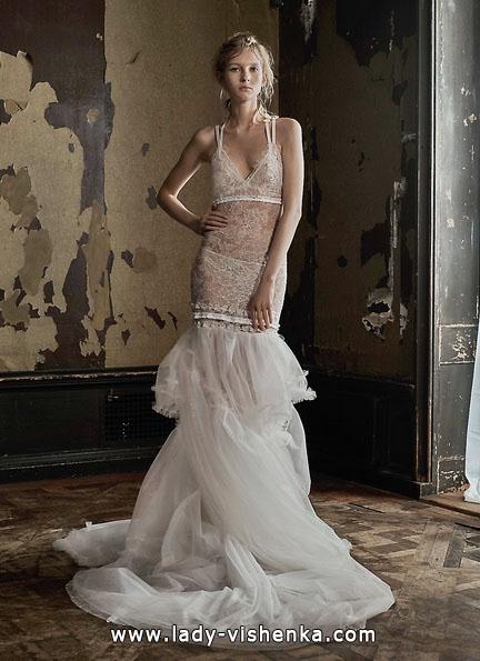 Прозрачное кружевное свадебное платье - Vera Wang