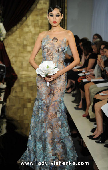 Прозрачное свадебное платье - Theia