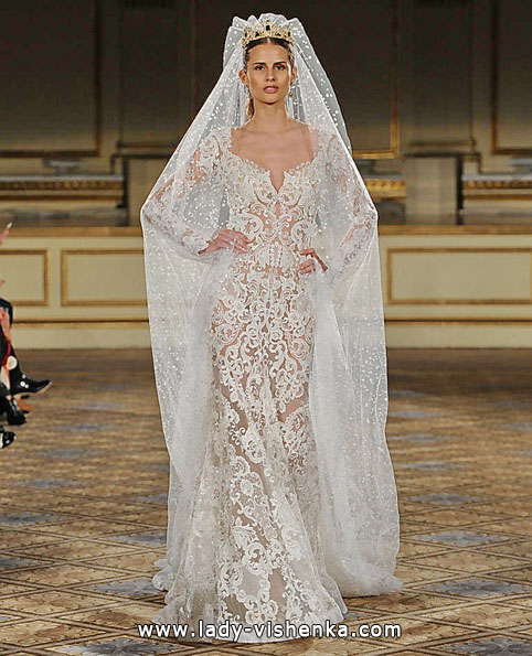 Прозрачное свадебное платье - Berta