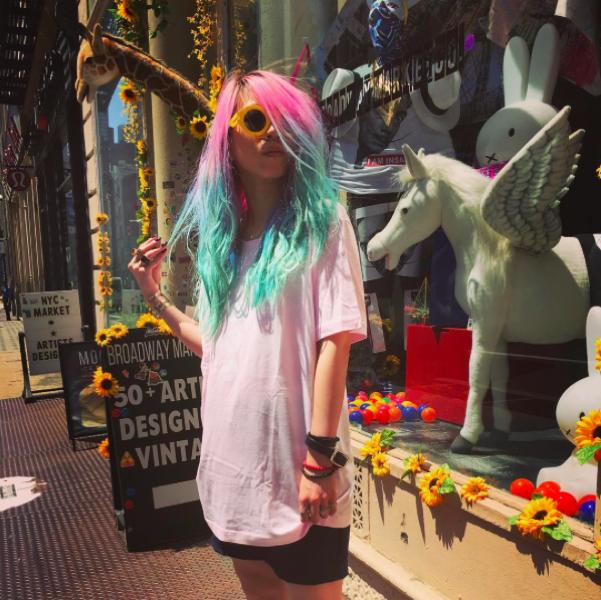 Трехцветные волосы