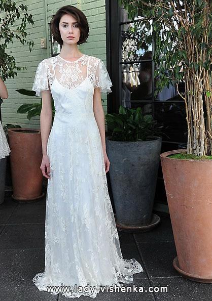 Свадебные платья с закрытыми плечами 2016 - Sarah Seven