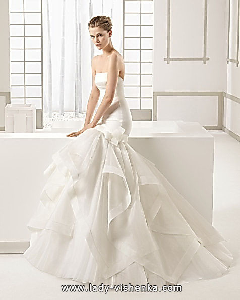 Свадебное платье рыбка со шлейфом - ROSA CLARA