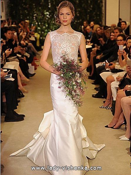 Свадебное платье рыбка со шлейфом - Carolina Herrera