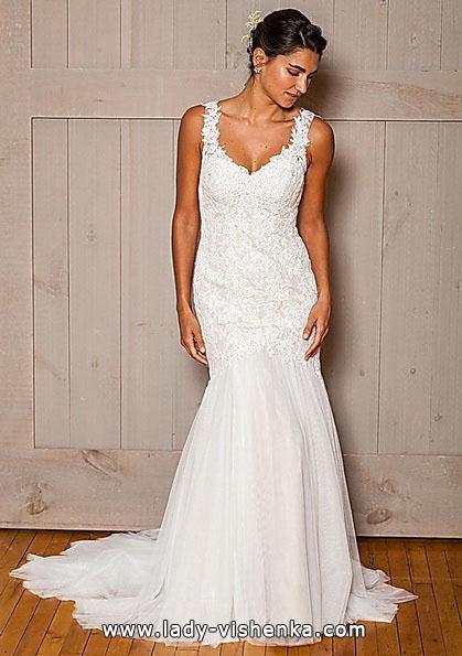 Свадебное платье русалочка со шлейфом - David's Bridal