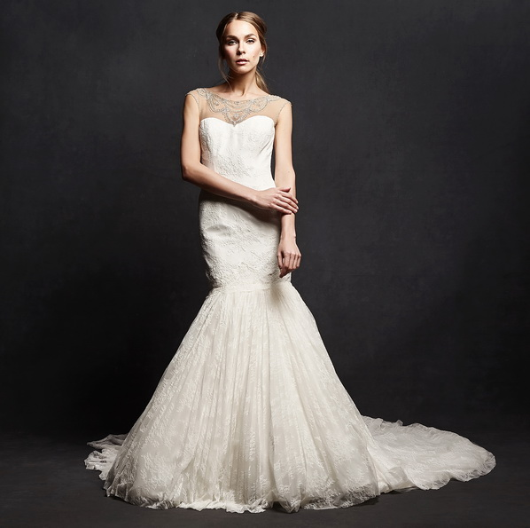 Свадебное платье рыбка со шлейфом - Isabelle Armstrong