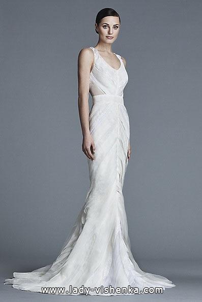 Свадебное платье русалочка со шлейфом - J Mendel