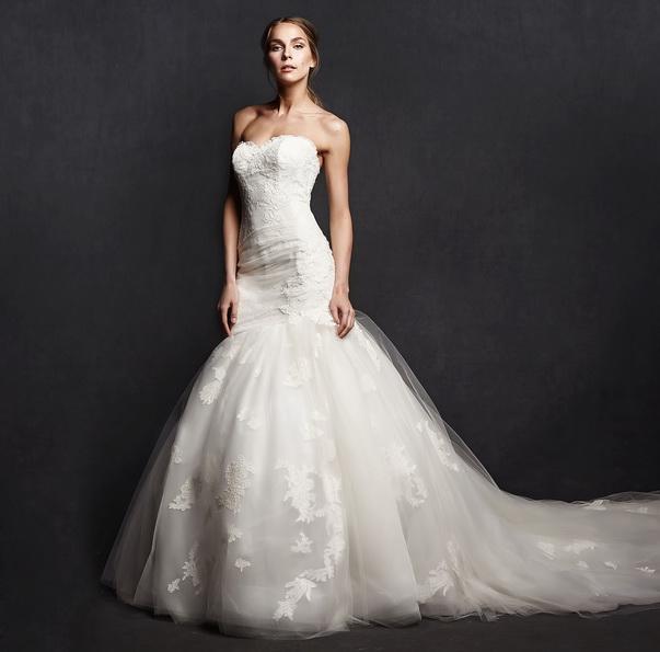 Свадебное платье рыбка со шлейфом - фото - Isabelle Armstrong