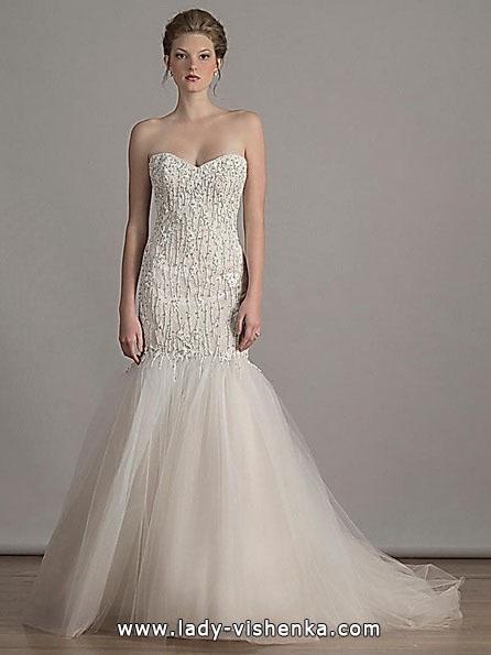 Свадебное платье русалочка со шлейфом - Liancarlo