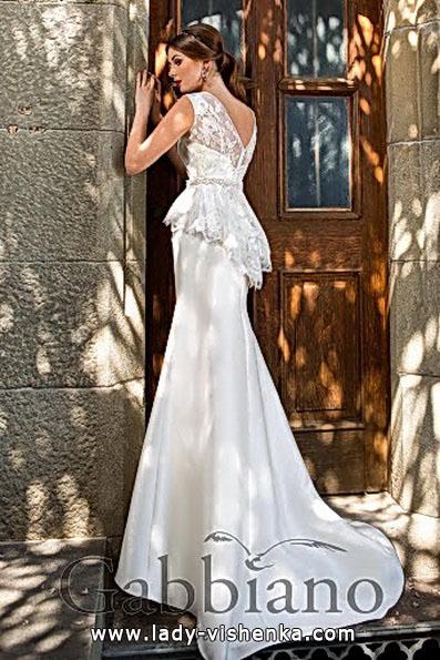 Модное свадебное платье рыбка со шлейфом - Gabbiano