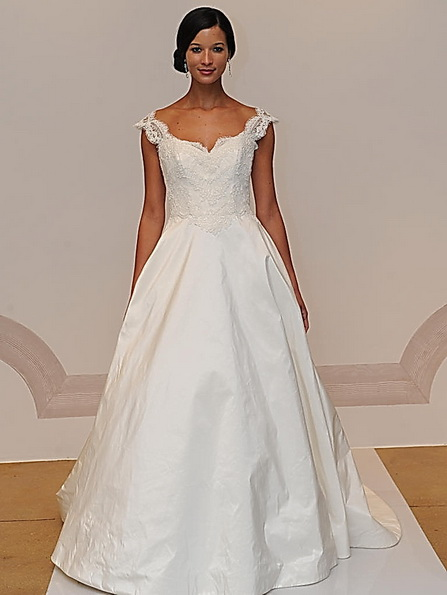 Свадебное платье с атласной юбкой Judd Waddell 2016