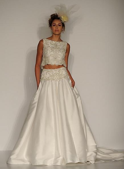 Свадебное платье с атласной юбкой Sottero and Midgley 2016
