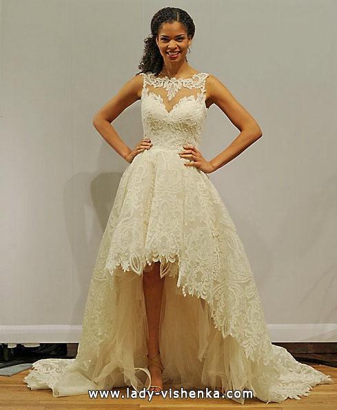 Свадебное платье короткое спереди сзади шлейф 2016 - Paloma Blanca