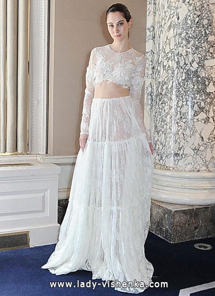 Свадебные платья с кружевными рукавами - Christos Costarellos